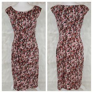 Connected apparel sleeveless dress faux wrap SZ 10